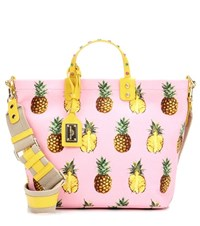 Dolce And Gabbana Printed Canvas Tote Bag Pink