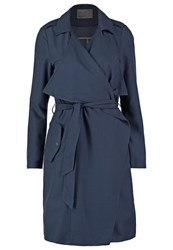 Vero Moda Vmadelina Trenchcoat Total Eclipse Blue Grey