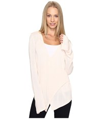B Collection By Bobeau Pullover Sweater W Flare Sleeve Pale Pink Women's Sweater