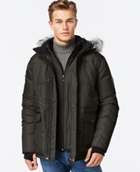 Point Zero Hooded Ripstop Down Parka Military