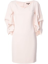 Alberto Makali Gathered Sleeve Mini Dress Pink