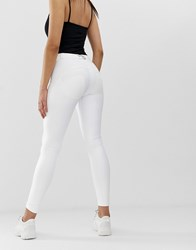 Freddy Wr.Up Shaping Effect Mid Rise Skinny Jean White