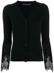 Ermanno Scervino Lace Sleeve Cardigan Black
