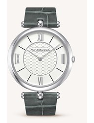 Van Cleef And Arpels Pierre Leather White Gold