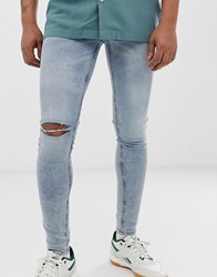 Cheap Monday Him Spray Super Skinny Jeans In Hex Blue