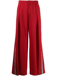 A.F.Vandevorst Wide Leg Trousers Red