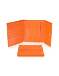 Giorgio Fedon Classica Women's Orange Calfskin Flap Wallet