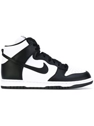 Nike 'Dunk' Retro Hi Top Sneakers Men Leather Polyamide Rubber 8.5 Black