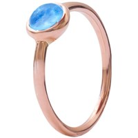 London Road 9Ct Rose Gold Pimlico Bubble Stacking Ring Topaz