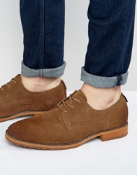 Call It Spring Edaussi Suede Derby Shoes Tan