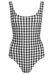 Solid And Striped The Anne Marie Gingham Swimsuit Black And White