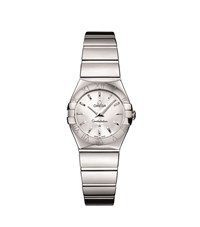 Omega Constellation Quartz Watch Unisex Silver