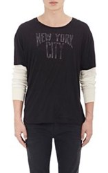 R 13 R13 'New York City' Layered T Shirt Black