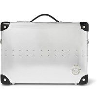 Globe Trotter 20 Leather Trimmed Mini Utility Case Silver