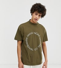 Noak T Shirt With High Neck And Print Green