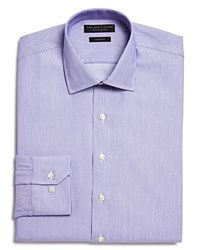 Bloomingdale's The Men's Store At Woven Stripe Slim Fit Dress Shirt 100 Exclusive Purple