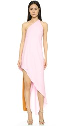 Narciso Rodriguez Asymmetrical Dress Shell Pink