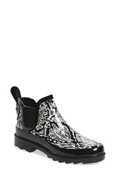 Sakroots Women's 'Rhyme' Waterproof Rain Bootie Jet Brave Beauty