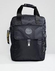 Dr. Martens Dr Black Large Nylon Backpack In Black Black 15