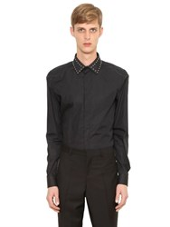 Givenchy Studded Collar Cotton Poplin Shirt