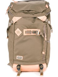 As2ov Square Backpack Men Nylon One Size Brown