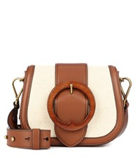 Polo Ralph Lauren Belt Saddle Medium Crossbody Bag White