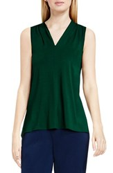 Vince Camuto Women's Sleeveless V Neck Top Forest Night