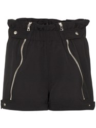 Rta Louie Zip Detail Shorts Black