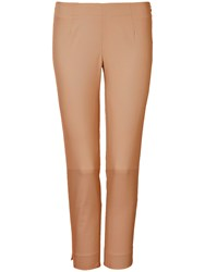 Winser London Cotton Twill Capri Trousers Camel