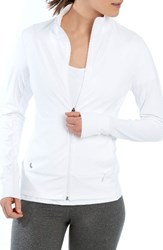 Lole Women's Essential Zip Cardigan White
