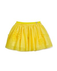 Mayoral Ruffle Trim Tulle Skirt Size 3 7 Yellow