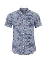 Garcia Mens Short Sleeved Cotton Shirt Chambray