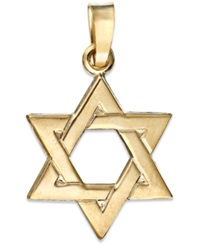 Macy's 14K Gold Pendant Star Of David Charm