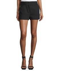 Cnc Costume National Flat Front Mid Rise Shorts Black Women's