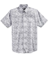 American Rag Men's Printed Short Sleeve Shirt Only At Macy's Bright White