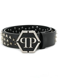 Philipp Plein Star Studded Belt Black