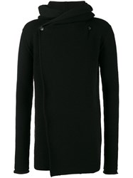 Rick Owens Ribbed Hooded Cardigan Black