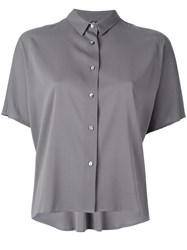 Eleventy Short Sleeved Button Fastening Shirt Grey