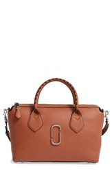 Marc Jacobs Medium Noho East West Leather Tote Brown Caramel Cafe