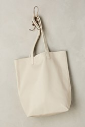 Anthropologie Classic Leather Tote White