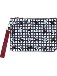 Mother Of Pearl Medium 'Pranzo' Clutch Red