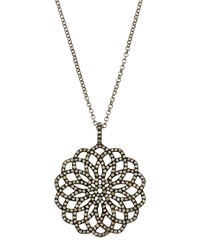 Bavna Champagne Diamond Pave Floral Pendant Necklace Women's