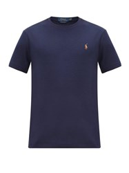 Polo Ralph Lauren Embroidered Cotton Jersey T Shirt Navy