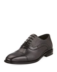 Jared Lang Lace Up Brogue Leather Dress Shoe Black