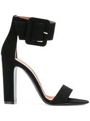 Via Roma 15 Ankle Strap Sandals Black