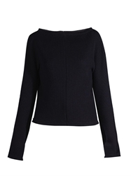 Marni Open Back Ribbed Knit Sweater