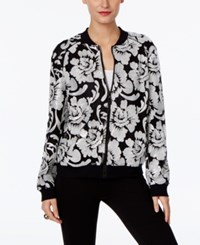 Inc International Concepts Embroidered Bomber Jacket Only At Macy's Deep Black