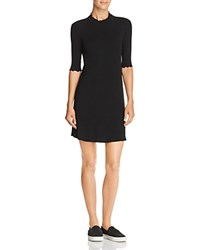 Aqua Lettuce Edge Rib Knit Dress 100 Exclusive Black