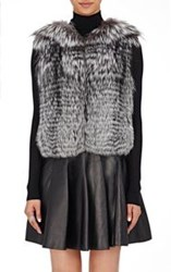 J. Mendel Women's Fur And Sequined Vest Grey