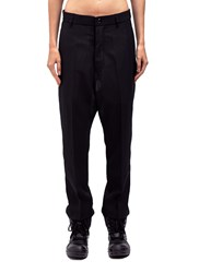 Rick Owens Easy Astaire Long Wide Drop Cr Black